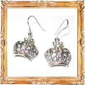 Crown Earrings Framed