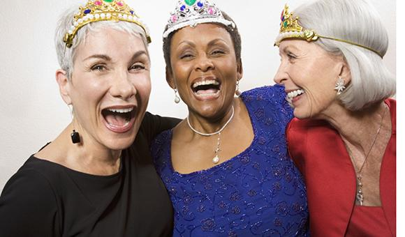 women with crowns