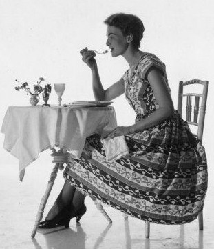 Woman Dining Alone