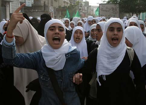 Veiled Women Protesting