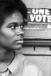 Black woman voter