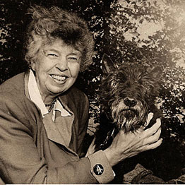 eleanor roosevelt in her garden