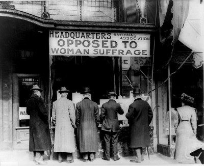 opposed suffrage
