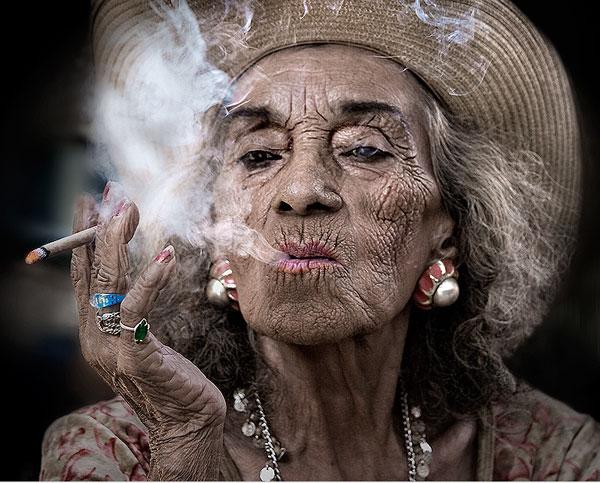 stylish old lady