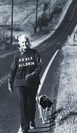 peace pilgrim on the road