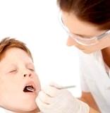 Dental hygenist with a boy