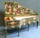 Miniature harpsichord