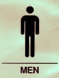 Graphic for a men's restroom