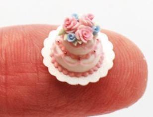 Fancy 2-tier miniature cake