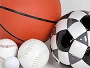 A variety of sports balls