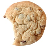Cookie with a bite missing