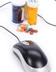 Computer mouse and pills