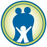 Graphic of 2 adults & a child