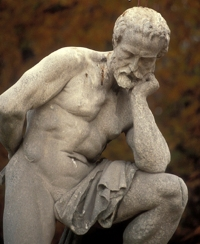 Marble statue of a man