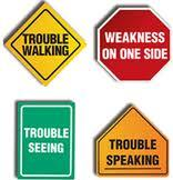 Warning signs for stroke