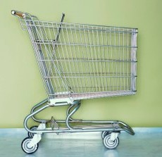 Photo of an empty shopping cart