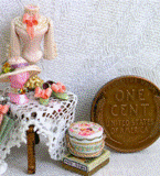 Miniatures of a Victorian lady's accoutrements