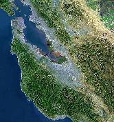 Satellite image of S.F. Bay Area