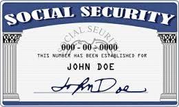 Sample Social Security card