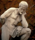 Classical statue of a man