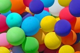 Mass of colorful balloons