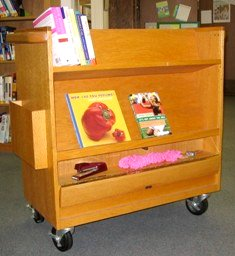 Oak bookcart