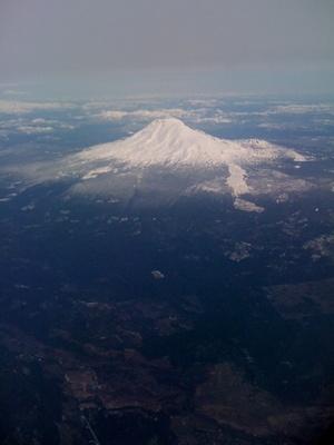 aerial Mt. Hood