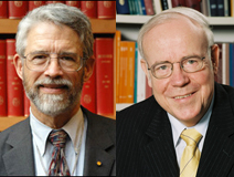 Ernst-Ludwig Winnacker and John Holdren