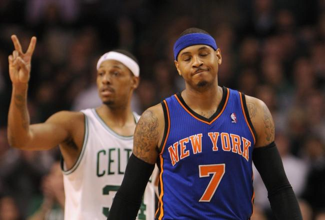 Paul Pierce and Carmelo Anthony