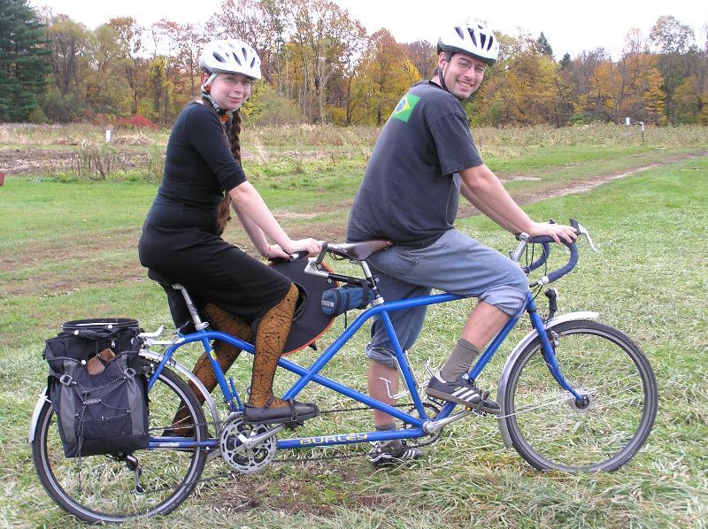 Nathan and Joanna on tandem bike