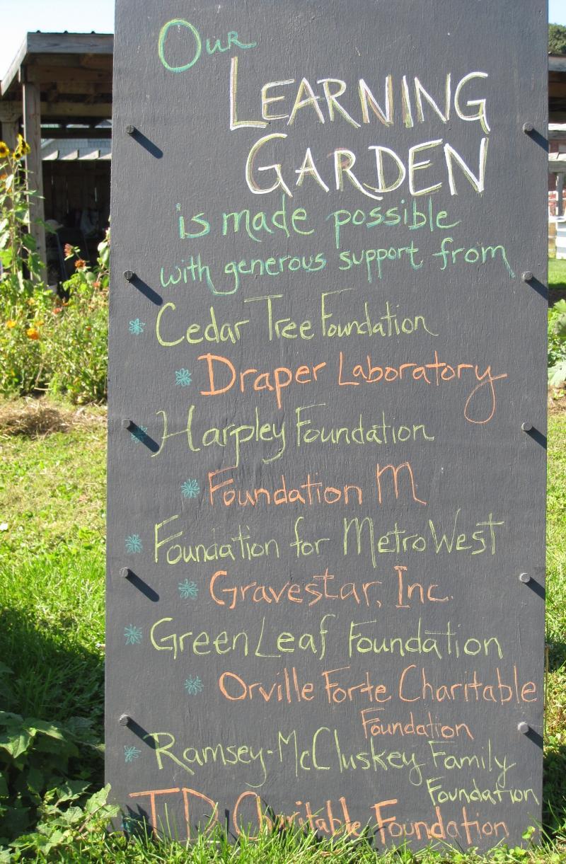 Learning Garden Thanks
