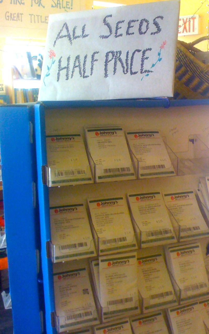 Seeds on Sale