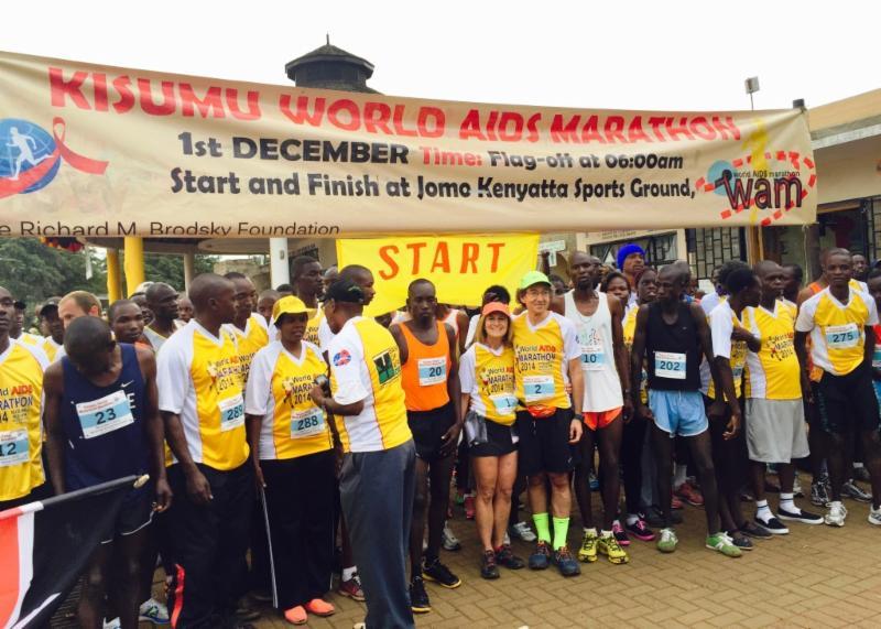 World AIDS Marathon start