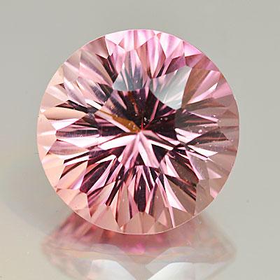 concave cut pink tourmaline