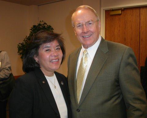 Dr. Dobson with Karen