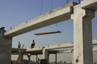 Precast being lifted