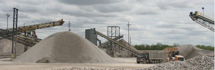 Aggregates and truck
