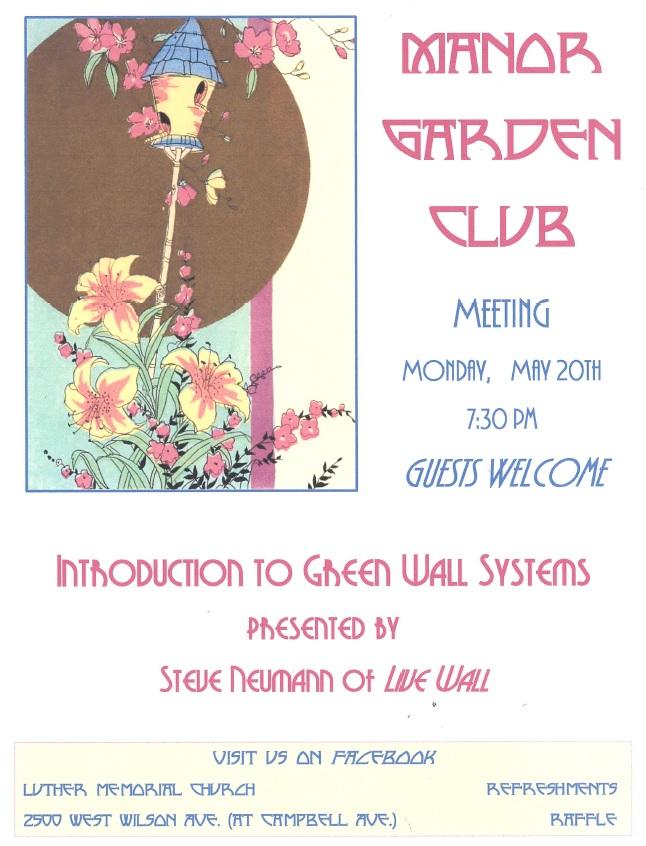 Manor Garden Club Meeting