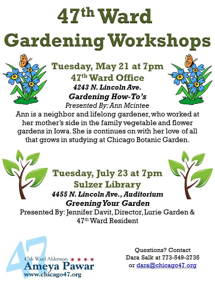 47th Ward Gardening Workshops