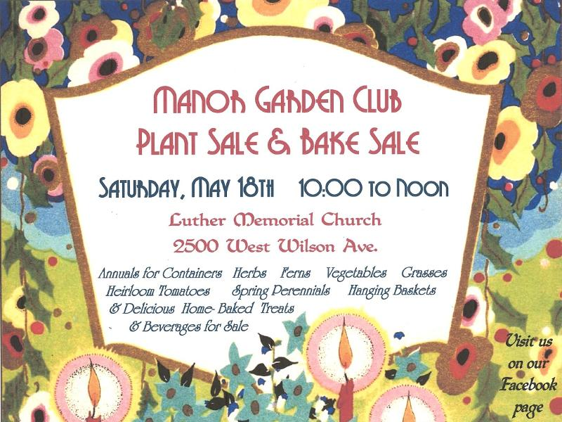 Manor Garden Club Plant and Bake Sale