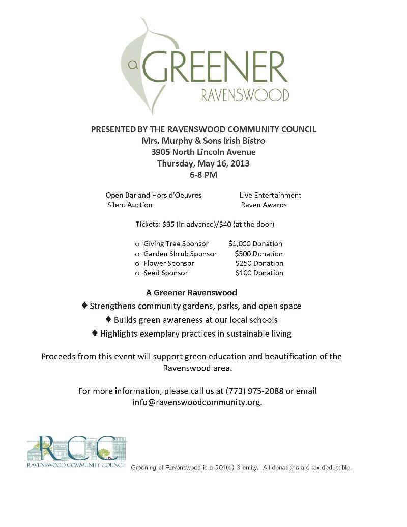 A Greener Ravenswood 5.16.13
