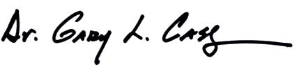 Dr. Gary L. Cass Signature