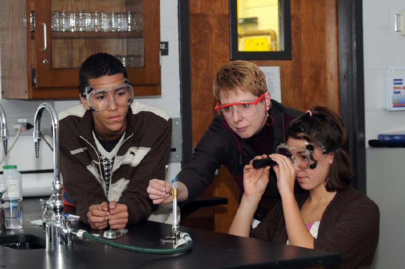 GSMST students and teacher ignite science excitement