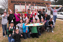 Brookwood Elementary students celebrate the school's 25th anniversary