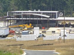 New school construction in progress