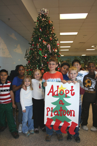 Alcova Elementary students strike a holiday pose