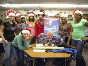 Maxwell High students gather gifts for needy children