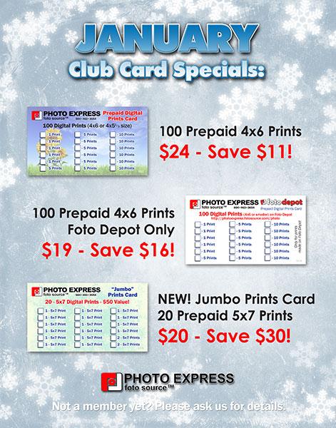 January Club Specials