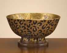 Leopard Painted Bowl