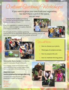 community roots garden flyer